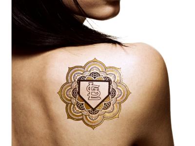 NFL NCAA NHL Flash Metallic Tattoos